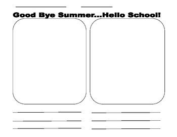 Good Bye Summer, Hello School!