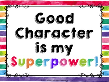 Good Character From A-Z (Superhero Themed Posters)