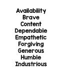 Good Character List