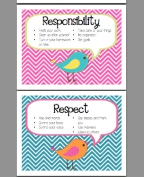 Character Education Posters - Bird Theme