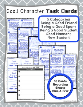 Character Building Task Cards