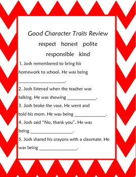 Good Character Traits