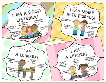 Good Character Traits Posters (Listening, Reading, Leadership and more!)