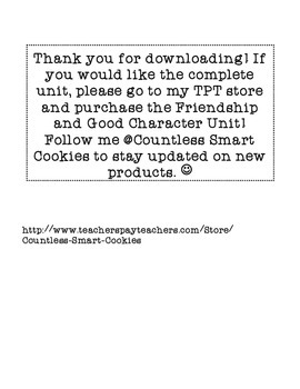 Good Character and Friendship Printable FREEBIE