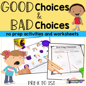 Good Choice Bad Choice No Prep
