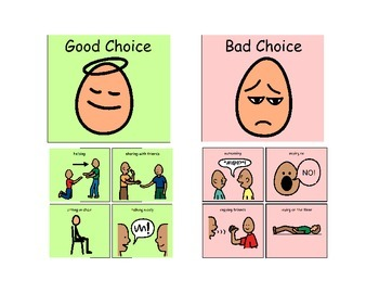 Good Choice Bad Choice Visual (Help for not just Autism)
