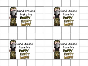 Good Choice Make Me Happy Happy Happy Duck Dynasty Tribute Punch Card