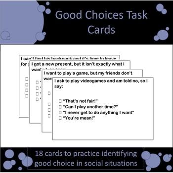 Good Choice Task Cards