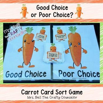Good Choice vs. Poor Choice Carrot Card Sort