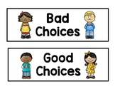 Good Choices/Bad Choices Behavior Sort for School Rules