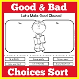 Good Choices Bad Choices Worksheet Activity
