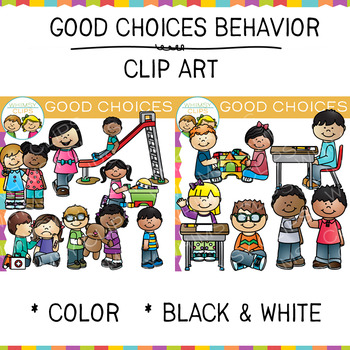 Good Choices Behavior Clip Art by Whimsy Clips | TpT