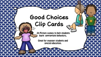 Good Choices Clip Cards