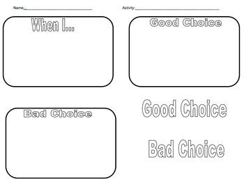 Good Choices/Bad Choices: Visual Consequences