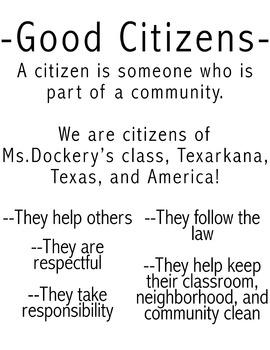 Good Citizen Anchor Chart