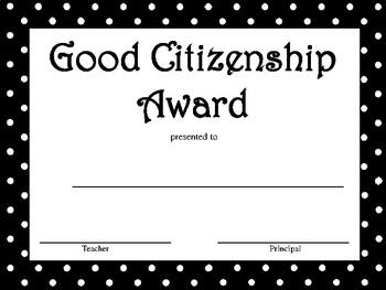 Good Citizen Award