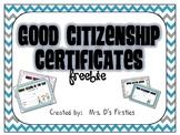 Good Citizen Awards/Certificates {FREEBIE}