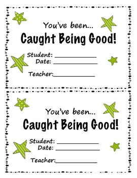 """Good Citizen Cards - """"I Caught You Being Good"""""""