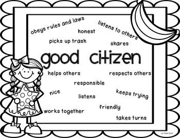 good citizen poster by polka dot firsties teachers pay teachers. Black Bedroom Furniture Sets. Home Design Ideas