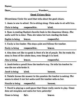 Good Citizen Quiz