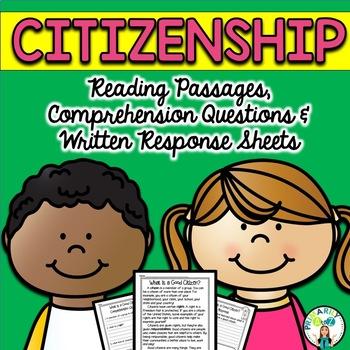 Good Citizen Reading Passages {PLUS Comprehension Questions!}