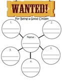 Good Citizen Wanted Poster- Citizenship Social Studies
