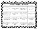 Good Citizen ... or Not? Color Sorting Worksheet - Citizenship