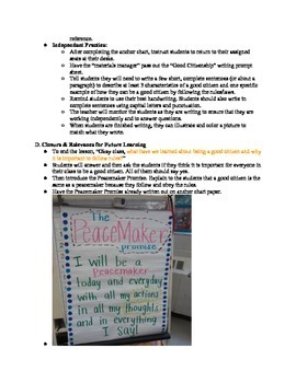 Good Citizens Social Studies FREE Lesson Plan for 1st, 2nd, or 3rd Grade