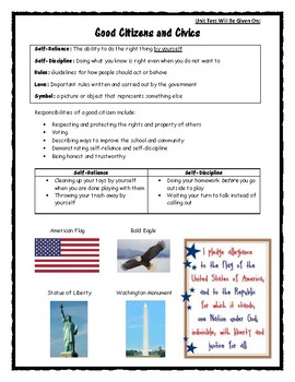 Good Citizens and Civics Refrigerator Card
