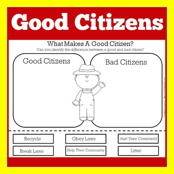 Good Citizenship Activity | Good Citizenship |  Good Citizen Worksheet