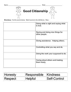Good Citizenship Freebie
