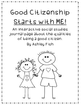 Good Citizenship Starts with Me!