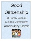 Good Citizenship Vocabulary Cards