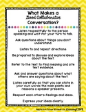 Good Collaborative Conversation Poster - Wonders McGraw Hill 4th - 6th Grade
