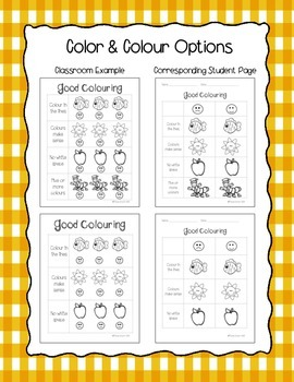 Good Coloring (Colouring) - Anchor Chart
