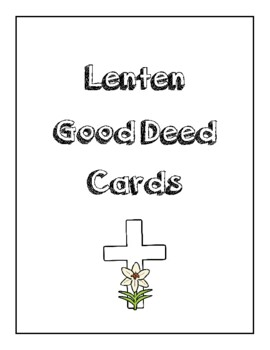 Good Deed Cards