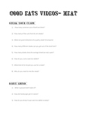 Good Eats:  Meat Video Questions for Culinary Arts course