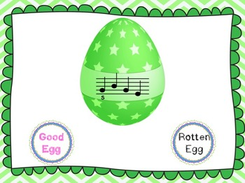 Good Egg/Rotten Egg Melody Game: La