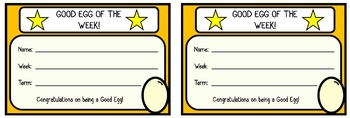 Good Eggs Incentive System (tracker, awards, cards and labels)
