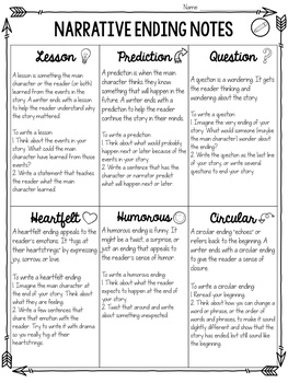 Good Endings Narrative Writing Minilesson Unit
