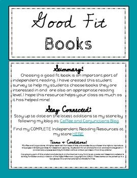 Good Fit Book Student Survey