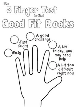 Good Fit Books - 5 Finger Test Poster B&W (Activity)