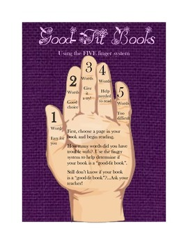 Good-Fit Books Posters (purple themed)