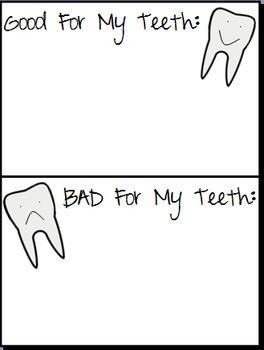 Good For My Teeth Bad For My Teeth Worksheet 336124 on Teeth Labelling Worksheet