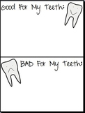 Good For My Teeth, Bad For My Teeth worksheet