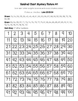 Good Friday Crosses & Easter Empty Tomb Hundred Chart Mystery Pictures