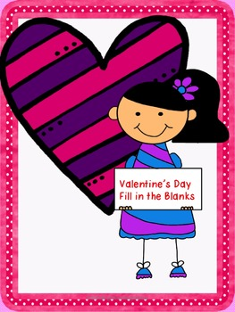 Valentine's Day Fill in the Blank Worksheet Freebie
