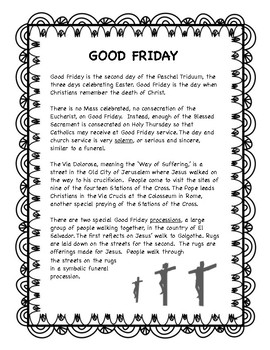 Good Friday -- Holy Week resource