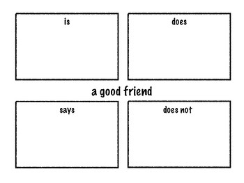 Good Friend Graphic Organizer