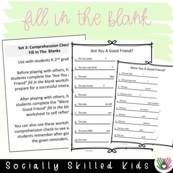SOCIAL SKILLS Good Friend Reminders {6 Differentiated Posters}